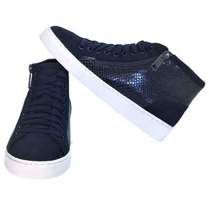 Vionic Splendid Torri 7.5 Zip Lace Up Sneaker Blue